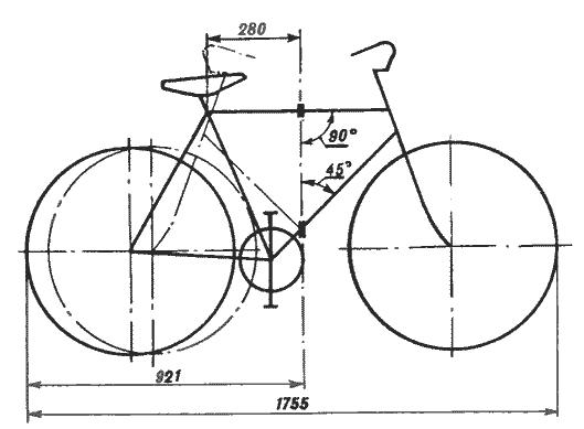 схема складного велосипеда