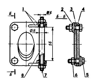 Схема сборки нижних фланцев